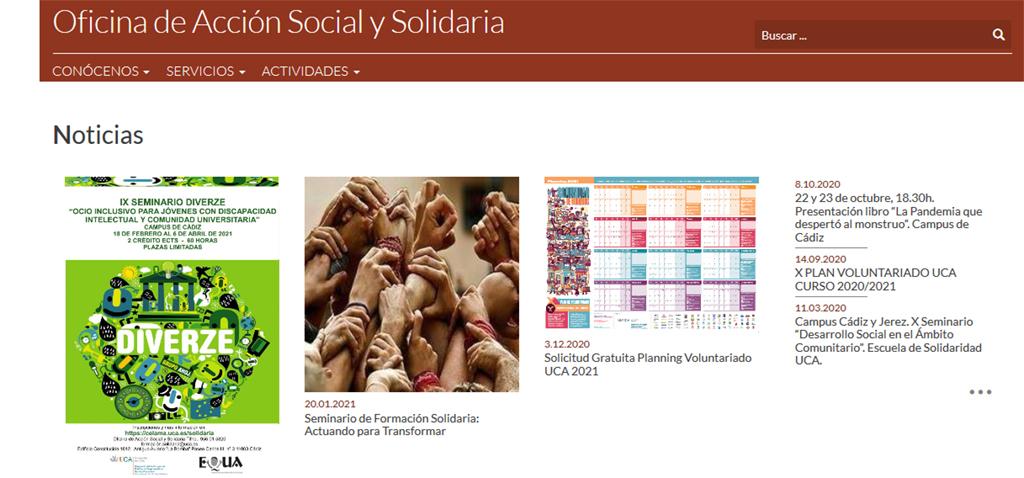 El seminario de formación solidaria 'Actuando para Transformar' comienza el próximo jueves 18