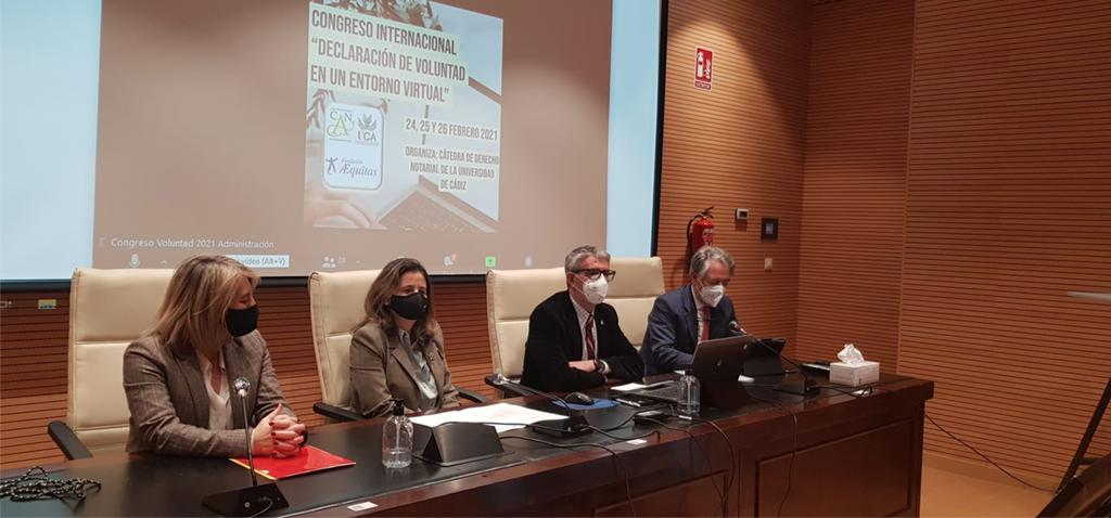 La Universidad de Cádiz inaugura el Congreso Internacional 'Declaración de Voluntad en un Entorno Virtual'