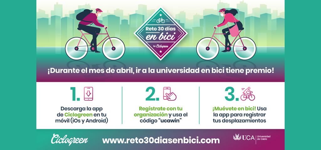 La UCA se une al 'Reto 30 días en Bici al campus'