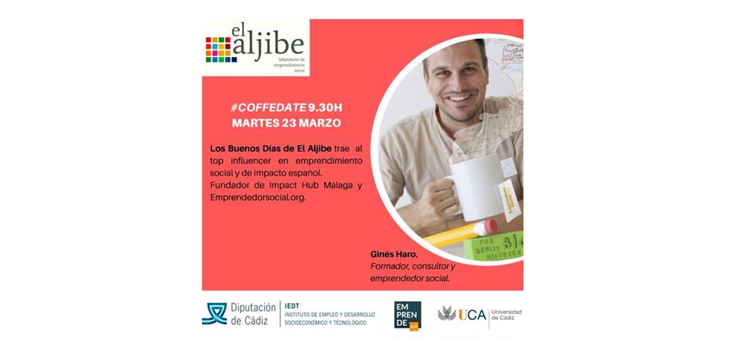 'Los Buenos Días de El Aljibe' se estrena mañana con la charla del fundador de 'Emprendedorsocial.org'