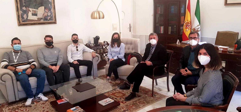 El rector de la UCA se reúne con los representantes de estudiantes de las universidades públicas españolas