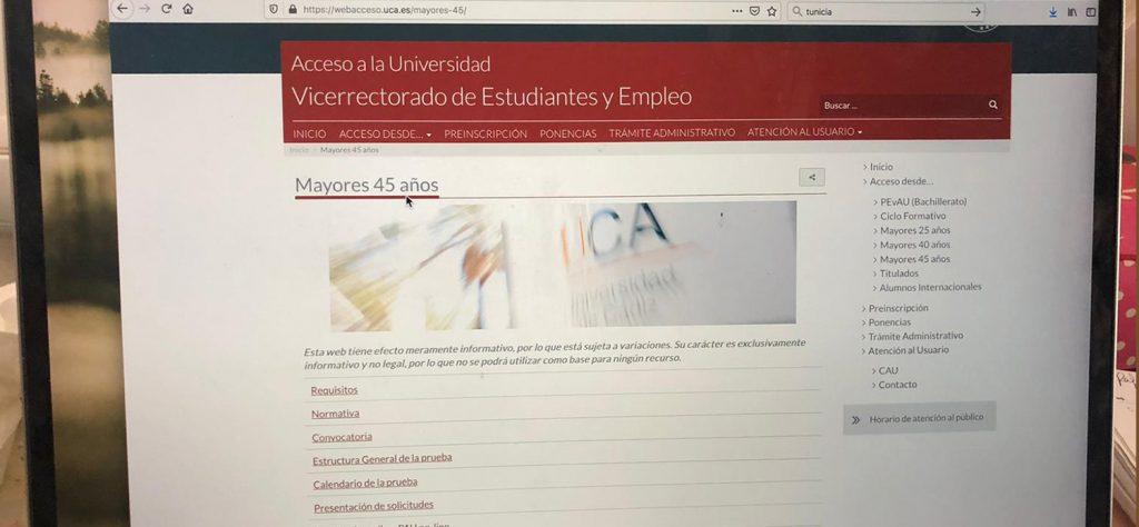 La UCA abre el plazo de solicitudes para el Acceso de Mayores de 25 y 45 años