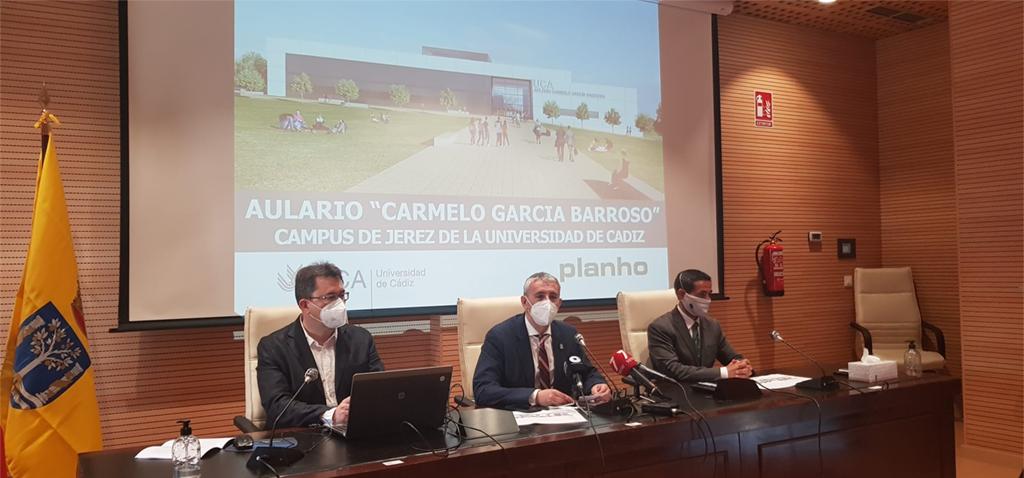 La UCA presenta el proyecto del segundo aulario del Campus de Jerez que se llamará 'Carmelo García Barroso'