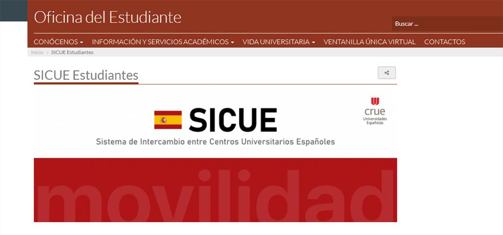 Abierto el plazo de plazas vacantes para el programa de movilidad de estudiantes SICUE 2021/22