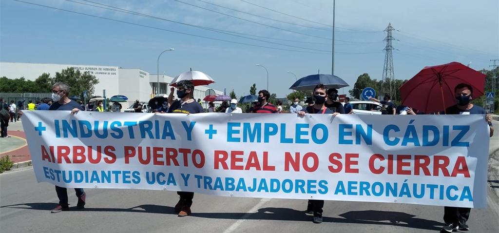 La UCA apoya la continuidad de la planta de Airbus de Puerto Real