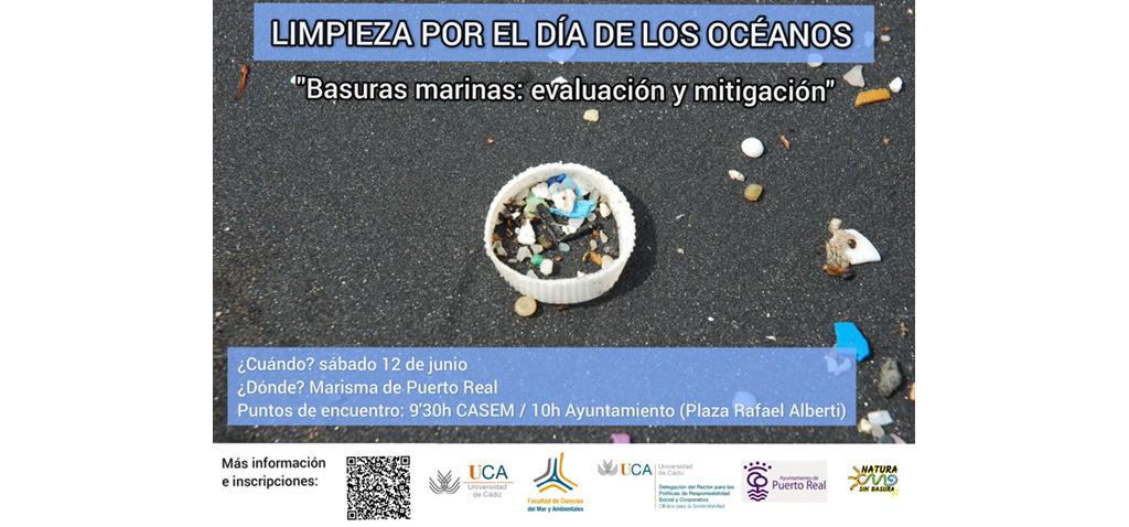 Estudiantes de la UCA organizan el próximo 12 de junio una evaluación y limpieza de basuras marinas en Puerto Real