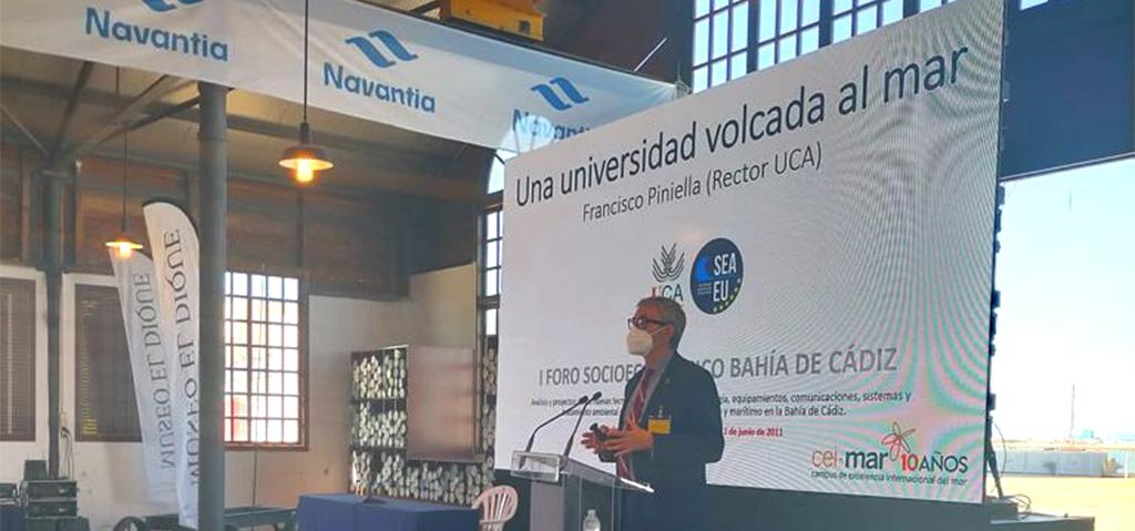 UCA, CEI·MAR y SEA-EU, presentes en el I Foro Socioeconómico Bahía de Cádiz