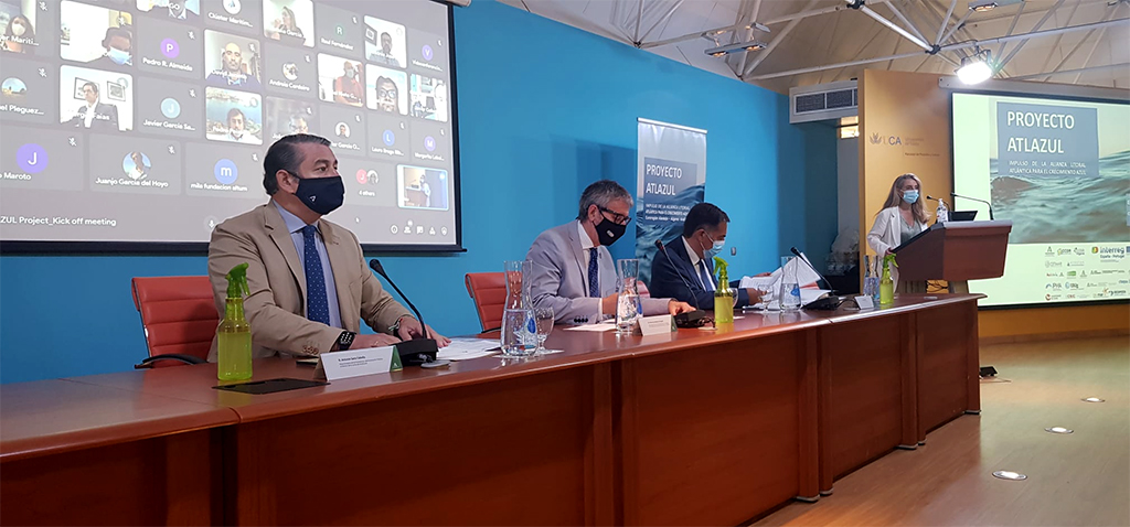 El proyecto estratégico publirregional 'Atlazul' se presenta en Cádiz para impulsar la alianza litoral atlántica para el crecimiento azul