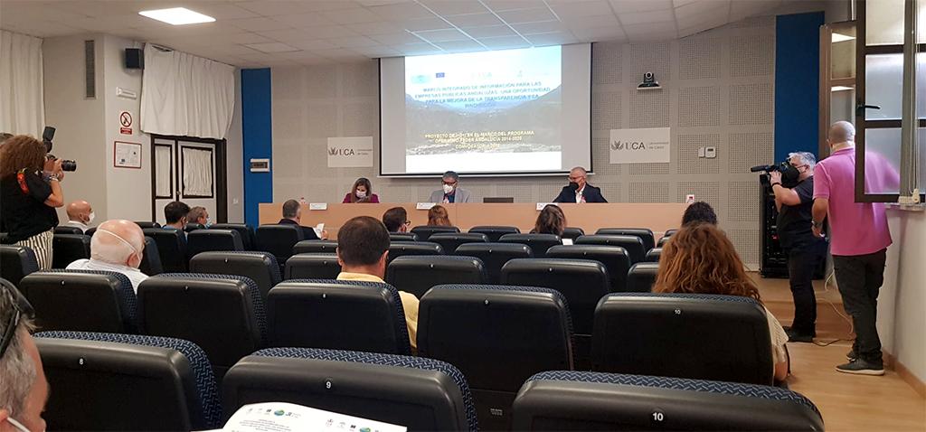 La UCA celebra la Jornada sobre el Marco Integrado de Información para las Empresas Públicas Andaluzas