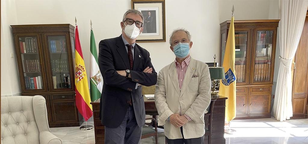 El rector de la UCA se reúne con el presidente de la Real Academia Provincial de Bellas Artes de Cádiz