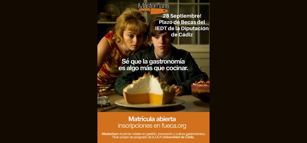 Diputación convoca 12 becas para el máster de Gestión, Innovación y Cultura Gastronómica ´Másterñam´ de la UCA