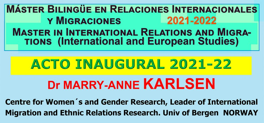 Conferencia Inaugural   Máster en Relaciones Internacionales y Migraciones