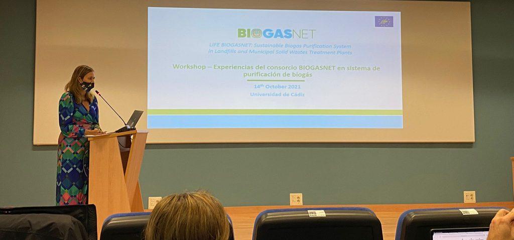 El workshop 'Experiencias del consorcio Biogasnet en sistemas de purificación de biogás' se reali...